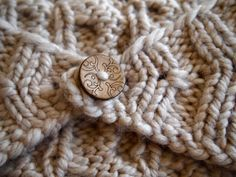 Linen Mushroom Old Lace Cream Knitted Ear Warmer by KnittingWriter, $25.00