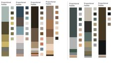 Classic Summer/The Classic Beauty Colours extracted from paintings by Gainsborough and Singer Sargent