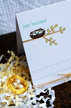 Nest Pendant and Card by Jess Witty for Papertrey Ink (March 2012)