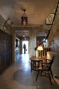 Hall at The Gunton Arms in Norfolk, England. Designed by Robert Kime