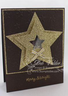 Shake It Up Stampin' Up Style with Deb Valder - Stampladee - Deb Valder - Paper Crafter Extraordinare Stampin Up Christmas, Christmas Cards To Make, Christmas Star, Shake It Up, Christmas Scrapbook Layouts, Star Cards, Nouvel An, Winter Cards, Cool Cards