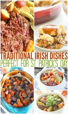 Here are some of my favorite Easy Traditional Irish Recipes! They are perfect for St. And what's ever better? They are super easy to make! Easy Irish Recipes, Easy Dinner Recipes, Italian Recipes, Dinner Ideas, Easy Meals, Italian Desserts, Holiday Recipes, Irish Dinner, Meyer Lemon Recipes
