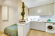 One Room Apartment, Small Apartment Interior, Micro Studio, Small Studio, Small Apartments, Small Spaces, Loft Studio, Dorm Room Organization, Tiny House Living