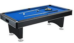 Hathaway Hustler Pool Table with Blue Felt, Internal Ball Return System, Outdoor Pool Tables