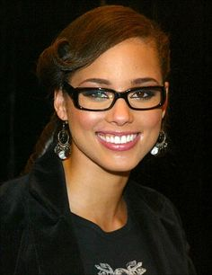 Only Alicia Keys can make glasses look sexy