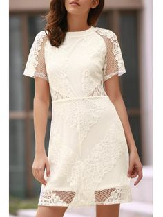 SHARE & Get it FREE | Openwork Lace Hook White DressFor Fashion Lovers only:80,000+ Items • New Arrivals Daily • FREE SHIPPING Affordable Casual to Chic for Every Occasion Join Zaful: Get YOUR $50 NOW!