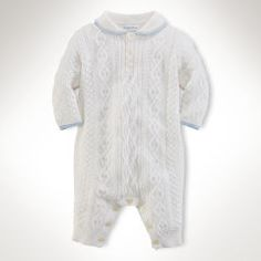 Cotton-Cashmere Coverall - Baby Boy All-in-ones - Ralph Lauren UK