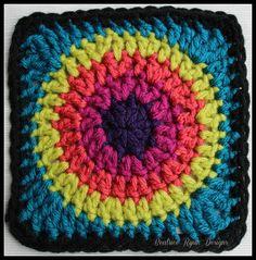 Granny's Circle in Square... Free Crochet Pattern!