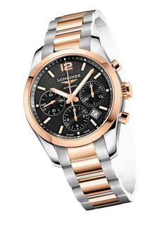 This week we are featuring the Longines timepiece you see in all their advertisements. The Conquest Classic Chronograph is as stylish as it is functional. This stainless steel and 18k pink gold watch will be turning heads. The L688 calibre movement with column wheel chronograph, make this watch practical and long-lasting. We just got this beauty in so come down to the store today to check it out! www.gembycarati.com www.facebook.com/gembycarati