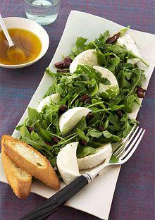 Arugula Salad with mozzarella and croutons