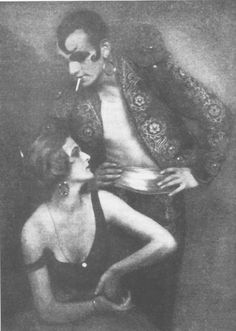 "Anita Berber & Sebastian Droste performing ""Dark Fantasy Morphine"".  (Photo by Atelier Eberth,1922.)"