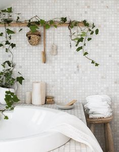 Seek this necessary graphics in order to look into the provided critical information on Beautiful Bathroom Decor Mosaic Bathroom, Bathroom Spa, Bathroom Interior, Bathroom Ideas, Bathroom Vanities, Bathroom Grey, Bathroom Plants, Mosaic Tiles, Master Bathroom