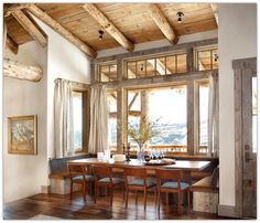 Art Symphony: Rustic retreat with an industrial touch....kitchen nook