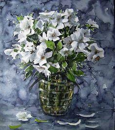 Gülün yanında mütevazidir kır çiçekleri Yaşamda çoğu zaman mütevazılığı sever.  sboya....38x32 cm.