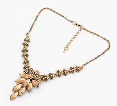 Retro Adonis Amurensis Diamond-Mounted  Necklace