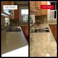 Exceptional Transformation Wow...change Laminate To Look Like Granite U0026 Cheaply. DIY. Faux  Granite CountertopsKitchen ...