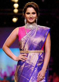 moviestalkbuzz: Sania Mirza's Saree Treat