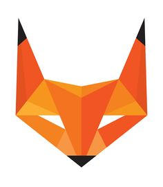 """Fox Head - Abstract Geometric Illustration - Sticker"""" Stickers by ..."""