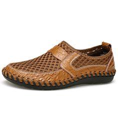 52ab65dd Menico Big Size Men Breathable Loafers Flats Calzado Hombre, Moda Hombre,  Zapatos Casuales,