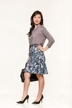 #modanotrabalho#fashionatwork#saia flare para trabalhar#
