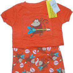 Baby Gap Rock Guitar Pajamas PJs 6-12 mos NEW NWT NIP #Gap