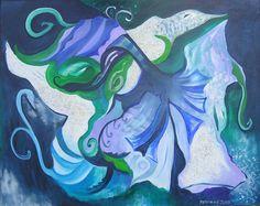 """Sea Fantasy"". Acrylic on canvas, 2000. Dimensions: 80 x 100cm"