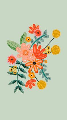 Iphone Background Wallpaper, Aesthetic Iphone Wallpaper, Flower Wallpaper, Aesthetic Wallpapers, Poppy Deyes, Art Minimaliste, Cute Patterns Wallpaper, Pattern Wallpaper Iphone, Pretty Wallpapers