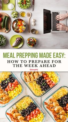 If you're new to preparing your own meals, or want to streamline your current process, our guide for meal prepping made easy will come in extremely handy! Best Meal Prep, Meal Prep For The Week, Healthy Meal Prep, Healthy Breakfast Recipes, Lunch Recipes, Healthy Snacks, Healthy Eating Habits, Kitchen Hacks, Food Hacks