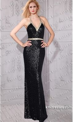 Chunky crystals Embellished deep V-neckline halter sequin gown.prom dresses,formal dresses,ball gown,homecoming dresses,party dress,evening dresses,sequin dresses,cocktail dresses,graduation dresses,formal gowns,prom gown,evening gown.