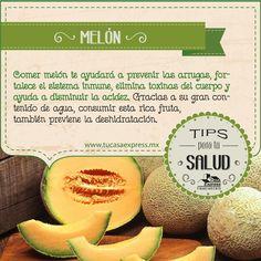 Conoce los beneficios de comer melón. Tu Casa Express - #Salud