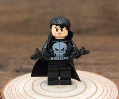 Custom Lego Minifigure,Lego Marvel The Punisher,Lego Marvel Super Heroes,The Punisher Minifigure,Lego The Punisher Bricks,Lego Party Favors
