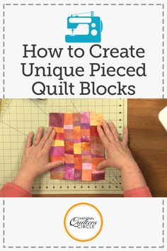 Many quilts are created with pieced quilt blocks being the main focal points of a design. Heather Thomas shows you a fun technique to use to create pieced quilt blocks that can be used as background blocks in a design.