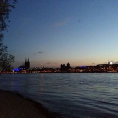 The River #Rhine #Rhein #Shore #Park #CologneCathedral #Sunset...