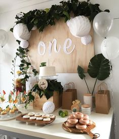 Decoration Birthday Party Ideas Create your perfect party with various decorations like the picture below!Choose from some of plain and themed birthday party decorations including banners, bunting, paper decorations, pom poms,baloon and more. Baby First Birthday, First Birthday Parties, Girl Birthday, Birthday Celebration, Simple 1st Birthday Party Boy, Birthday Board, Elegant Birthday Party, Birthday Design, 1year Old Birthday Party