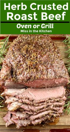Herb Crusted Roast Beef is a flavorful and delicious meal for any night of the week. Made with a chuck roast rump roast or sirloin roast and a simple blend of herbs and seasonings. Cook this easy recipe on the grill or in the oven. Chuck Roast Recipe Oven, Rump Roast Recipes, Healthy Beef Recipes, Chuck Roast In Oven, Easy Roast Beef Recipe, Aloo Recipes, Beef Chuck Roast, Tofu Recipes, Oven Recipes