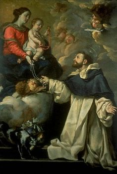 The BVM and St Dominic