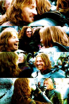 Faramir and Boromir brotherly love & beer on the battle field!