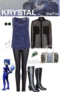 Inspired by Krystal from Star Fox | #Gaming #GeekFashion