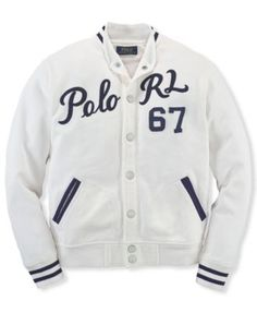 Ralph Lauren Boys' Atlantic Baseball Jacket | macys.com