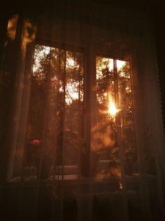 Orange Aesthetic, Sky Aesthetic, Aesthetic Photo, Aesthetic Pictures, Aesthetic Backgrounds, Aesthetic Wallpapers, Window View, Morning Light, Golden Hour