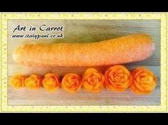 Art In Carrot Show - Vegetable Carving Carrot Roses - Carrot Flowers Tutorial