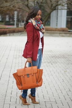 Burgundy & Plaid | www.prissysavvy.com | Bloglovin'