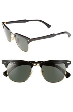 Ray-Ban 'Clubmaster - Modern Temple' Polarized Sunglasses | Nordstrom