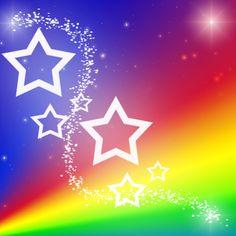 stars rainbow picture | Rainbow Star Background by YuniNaoki