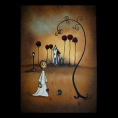 Whimsical Art Creeper Print Where The Heart Is by RusticGoth, $15.00
