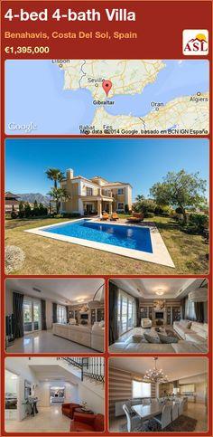 4-bed 4-bath Villa in Benahavis, Costa Del Sol, Spain ►€1,395,000 #PropertyForSaleInSpain