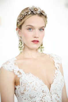 Hair and accessory inspiration from Marchesa! The perfect look for the perfect bride.