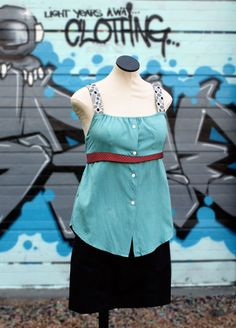 Upcycle a button-down shirt and ties into a cute summery tank >> http://blog.diynetwork.com/maderemade/how-to/upcycle-an-old-shirt-and-ties-into-a-terrific-tank-top?soc=pinterest