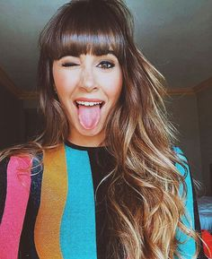 Aitana Step By Step Hairstyles, Hairstyles With Bangs, Pretty Hairstyles, Straight Hairstyles, Girl Hairstyles, Braided Hairstyles, Balayage Lob, Brunette Highlights, Beach Wave Hair