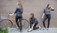 Betabrand Black Bike to Work Skinny Jeans... $118... I'll wait until they're on sale!